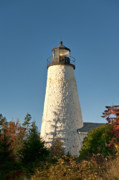 Maine Lighthouses Posters - Dyce Head Lighthouse Poster by John Greim