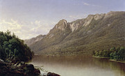 Hudson River School Painting Posters - Eagle Cliff at Franconia Notch in New Hampshire Poster by David Johnson