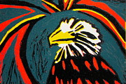 Printmaking Prints - Eagle Print by Marita McVeigh