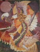 Indian Pastels Prints - Eagle Medicine Print by Pamela Mccabe