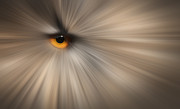 Canvass Posters - Eagle Owl Eye Abstract Poster by Andy Astbury