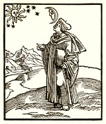 Astrologer Framed Prints - Early 17th Century Astrologer, Artwork Framed Print by Detlev Van Ravenswaay