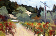Grapevines Painting Prints - Early Fall Print by Char Wood