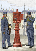 Call Box Posters - Early Fire Brigade Street Alarm Poster by Sheila Terry