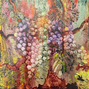 Vines Paintings - Early Harvest by Karen Fleschler