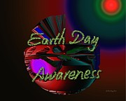 Xueling Zou Digital Art Posters - Earth Day Awareness Poster by Xueling Zou
