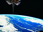 Orbiting Posters - Earth Viewed From The Space Shuttle Poster by Stockbyte