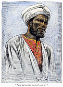 Turban Framed Prints - East Africa: Muslim Man Framed Print by Granger