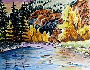 Fishing Creek Drawings Prints - East Clear Creek Print by Jimmy Smith