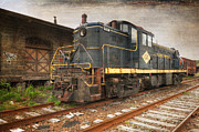 Train Stations Photos - East Penn Locomotive by Paul Ward