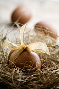 Golden Egg Framed Prints - Easter eggs Framed Print by Kati Molin