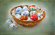Eastern European Prints - Easter Eggs Print by Louise Heusinkveld