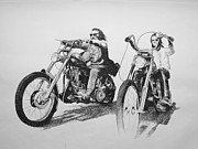 In-laws Drawings Framed Prints - Easyrider Framed Print by Scott Ritchie