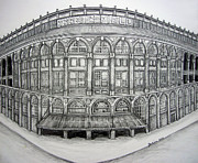 Stadiums Drawings - Ebbets Field by Juliana Dube