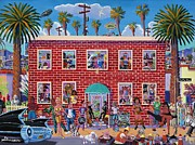 Brick Painting Originals - Eclectic Avenue by Frank Strasser