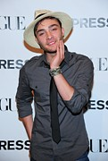 Bracelets Photo Framed Prints - Ed Westwick At Arrivals For Express Framed Print by Everett