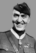Captain Rickenbacker Posters - Eddie Rickenbacker  Poster by War Is Hell Store