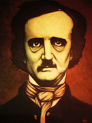 Edgar Allan Poe Paintings - Edgar Allan Poe by Justin Coffman