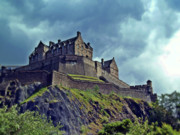 Historic Buildings Art - Edinburgh Castle Scotland. by Amanda Finan