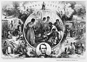 Slavery Photo Framed Prints - Effects Of Emancipation Proclamation Framed Print by Photo Researchers