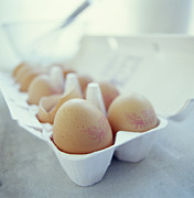 Cracked Eggs Prints - Eggs Print by David Munns