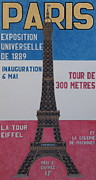Paris Drawings Posters - Eiffel Tower Poster by Marc Yench