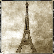 Sites Tapestries Textiles Prints - Eiffel tower. Paris Print by Bernard Jaubert