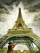 Watercolor By Irina Framed Prints - Eiffel Tower Paris Framed Print by Irina Sztukowski