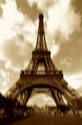 Structures Photo Framed Prints - Eiffel Tower  Framed Print by Tony Cordoza
