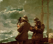 Seascapes Paintings - Eight Bells by Winslow Homer
