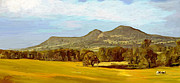Surroundings Digital Art Framed Prints - Eildon Hills Framed Print by James Shepherd