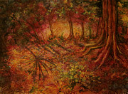 Archeology Paintings - El Pilar Clearing by Shelly Leitheiser