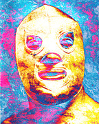 Unique Art Framed Prints - El Santo  Framed Print by Juan Jose Espinoza