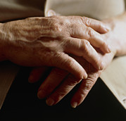 Elderly Hands Posters - Elderly Womans Hands Poster by Cristina Pedrazzini