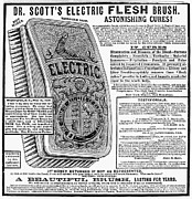 Flesh Framed Prints - Electric Brush, 1882 Framed Print by Granger