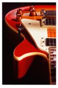 Les Metal Prints - Electric Guitar I Metal Print by Mike McGlothlen