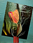Avant Prints - Electric Tulip Print by Sarah Loft