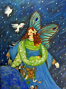 Charlotte Painting Prints - Elemental Angel Of Earth Print by The Art With A Heart By Charlotte Phillips