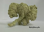 Rubber Sculptures - Elephant by Katie-Marie OConnor