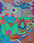 Visionary Art Drawings Posters - Elfo Poster by Monica Dias