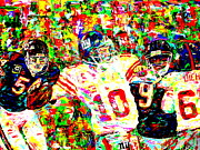 Chicago Bears Paintings - Eli Manning by Mike OBrien
