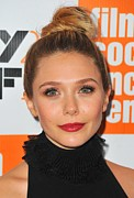 Topknot Art - Elizabeth Olsen At Arrivals For Martha by Everett