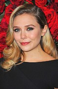 2010s Hairstyles Posters - Elizabeth Olsen At Arrivals For Momas Poster by Everett