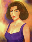 Elizabeth Taylor Paintings - Elizabeth Taylor by Jane  Ricker