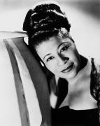 Fashion Framed Prints - Ella Fitzgerald (1917-1996) Framed Print by Granger