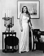 Evening Dress Framed Prints - Ella Raines, 1946 Framed Print by Everett