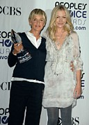 In The Press Room Posters - Ellen Degeneres, Portia De Rossi Poster by Everett