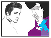 Elvis Presley Art - Elvis... Before And After by Samuel Veta