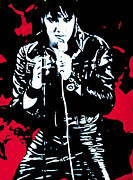 Original Metal Prints - Elvis Metal Print by Luis Ludzska