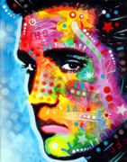 Pop Art Painting Posters - Elvis Presley Poster by Dean Russo